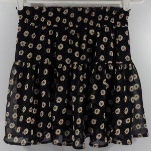 B Jewel Womens Skirt Black Tan Brown Sheer Lined